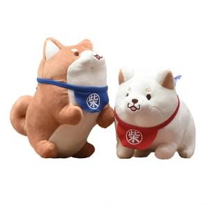 Petites Peluches shiba roux et blanc japon