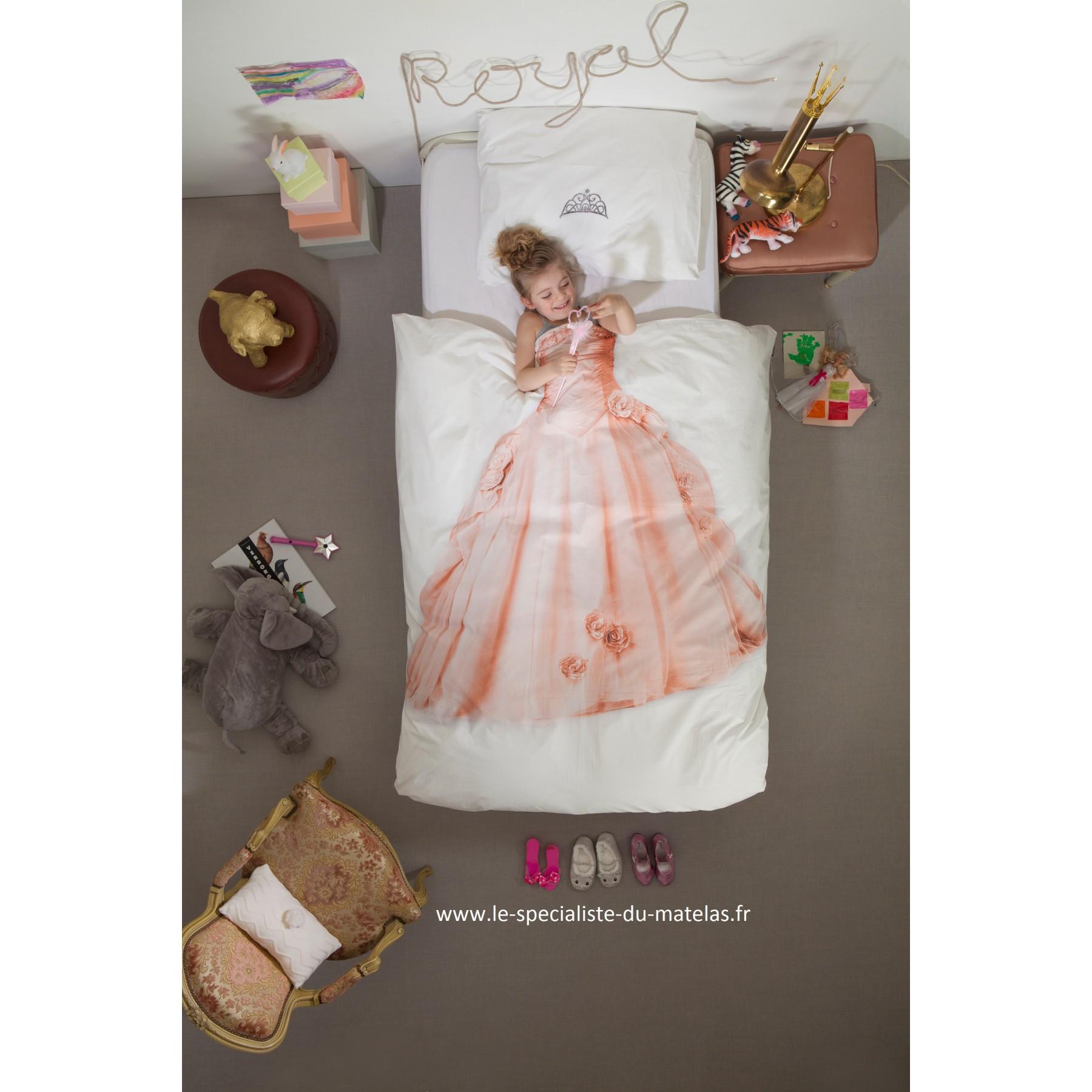 Housse de couette enfant Snurk Princesse  dcouvrir au Le
