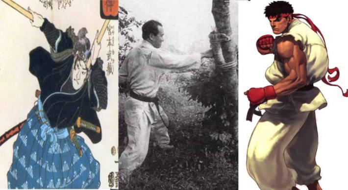 Musashi, Mas Oyama, et leurs fils transgénique.