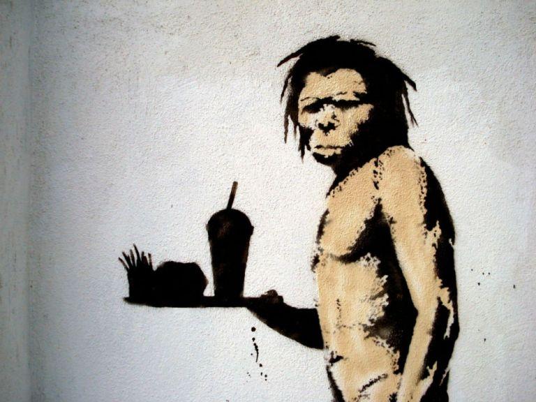 Data vizualisation sur le grapheur sans visage Banksy.