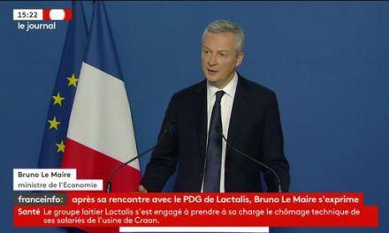 Bruno Le Maire : « Toute boîte produite sur le site de Craon sera remise à Lactalis »