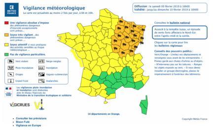 Alerte météo : 18 départements en vigilance orange pour vents violents