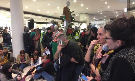 Retraites : des manifestants investissent les Galeries Lafayettes à Toulouse