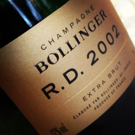 Champagne Bollinger RD 2002