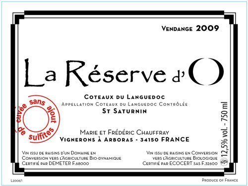 reserve d'o label