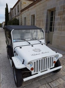 Chateau Montrose's jeep sparkled in the sunshine when we visited