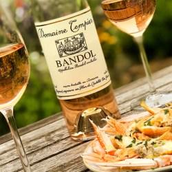 Bandol Rosé and Shrimp