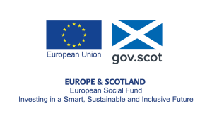 EU logo with Scot gov