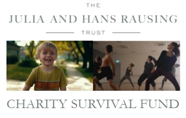 Julia and Hans Rausing Trust. Charity Survival Fund. Image of people dancing and child smiling.