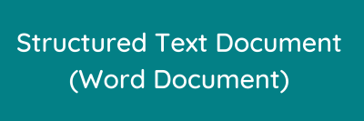 Structured text document (word document)