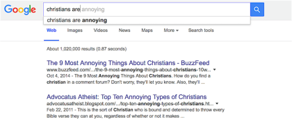 Christians Are Annoying