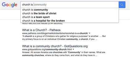 Church Is Community