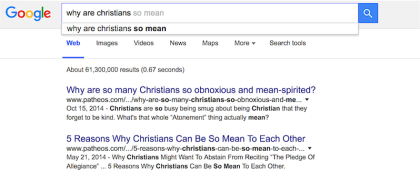 Why Are Christians So Mean