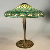 Duffner & Kimberly Lily Table Lamp on Suess Bronze base
