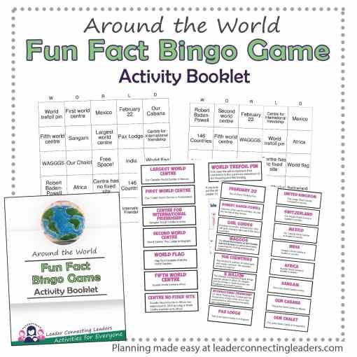 Around the World Bingo Game