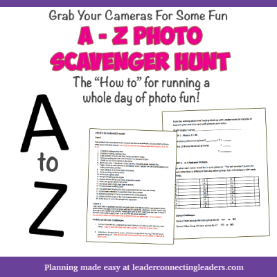 Girl Scout Photo Scavenger Hunt