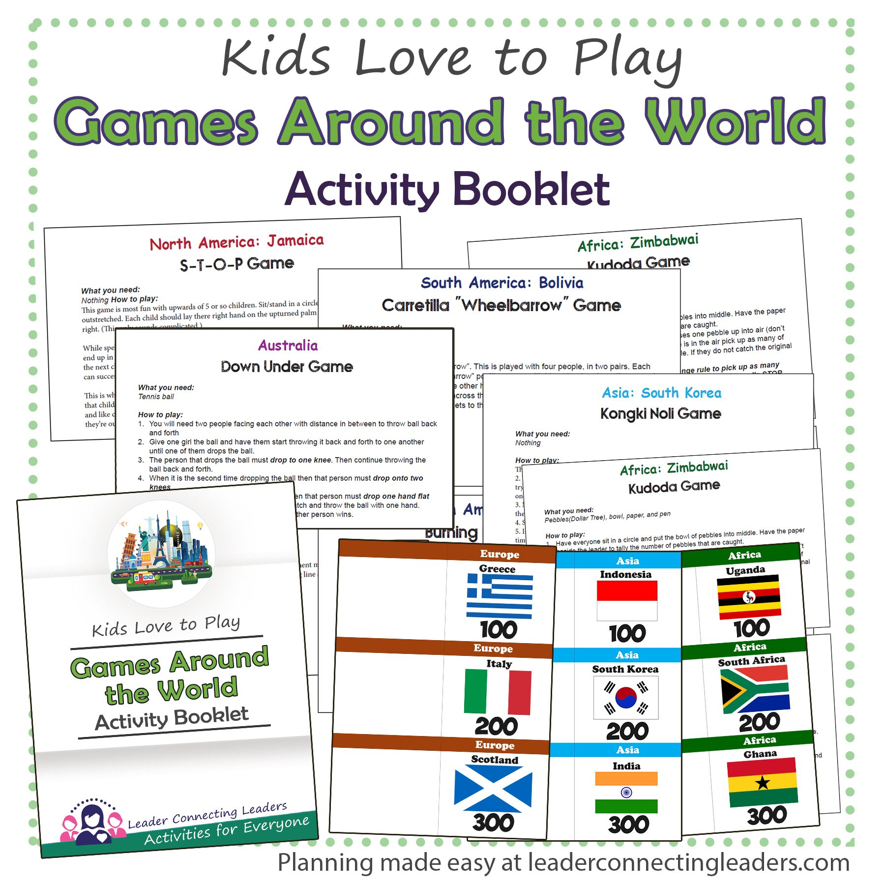 Games Around The World Activity Booklet