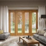 La Porte Oak French Door Sidelight Frame Set Leader Doors