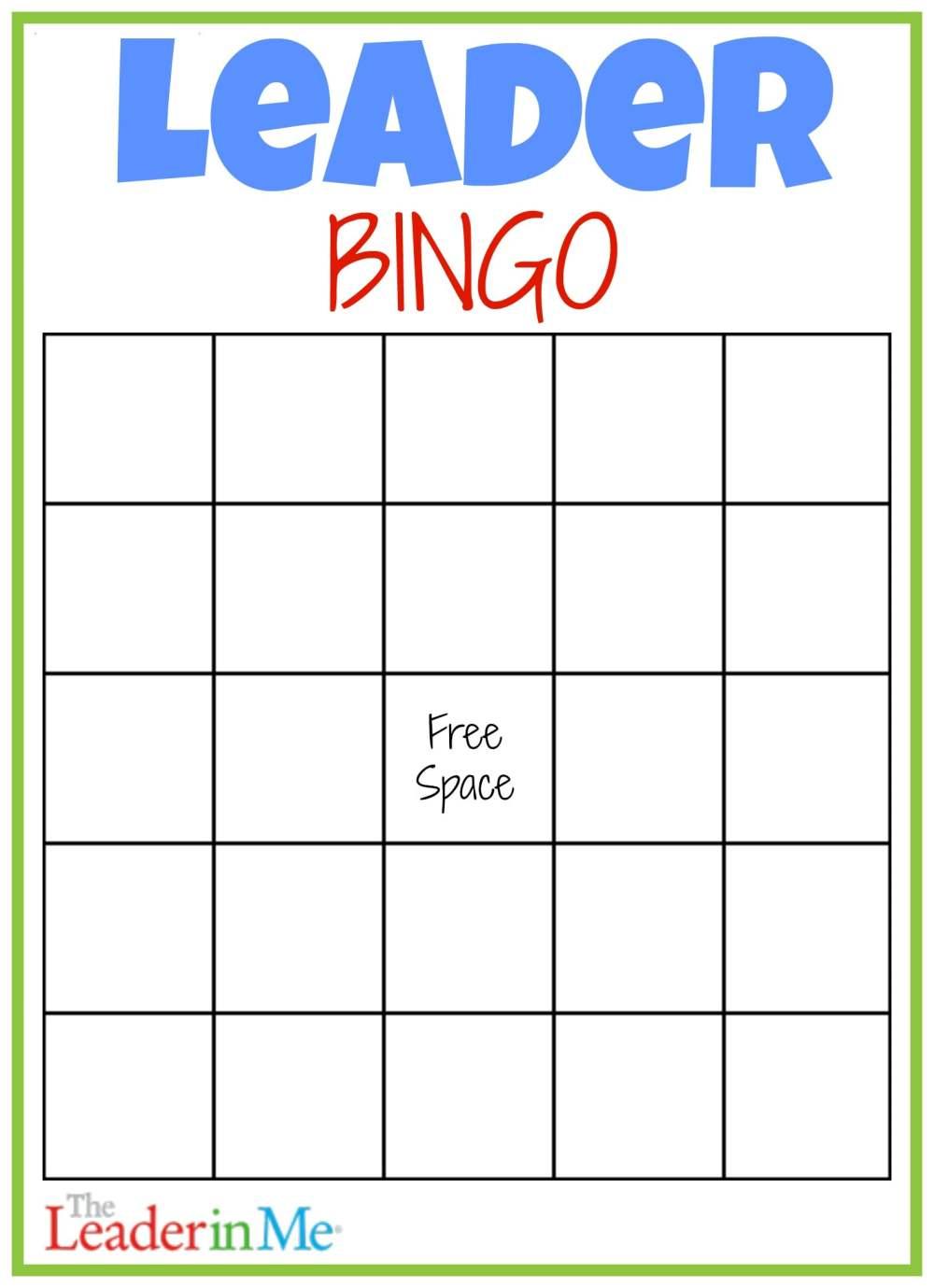 medium resolution of Leader Bingo FREE Printable - Leader In Me