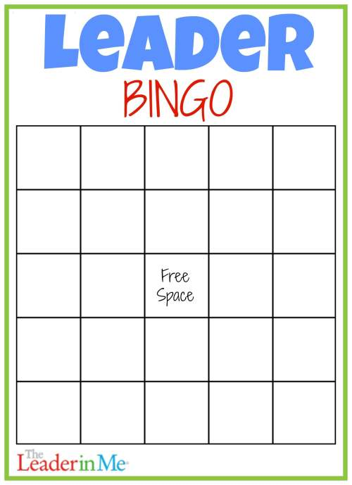 small resolution of Leader Bingo FREE Printable - Leader In Me