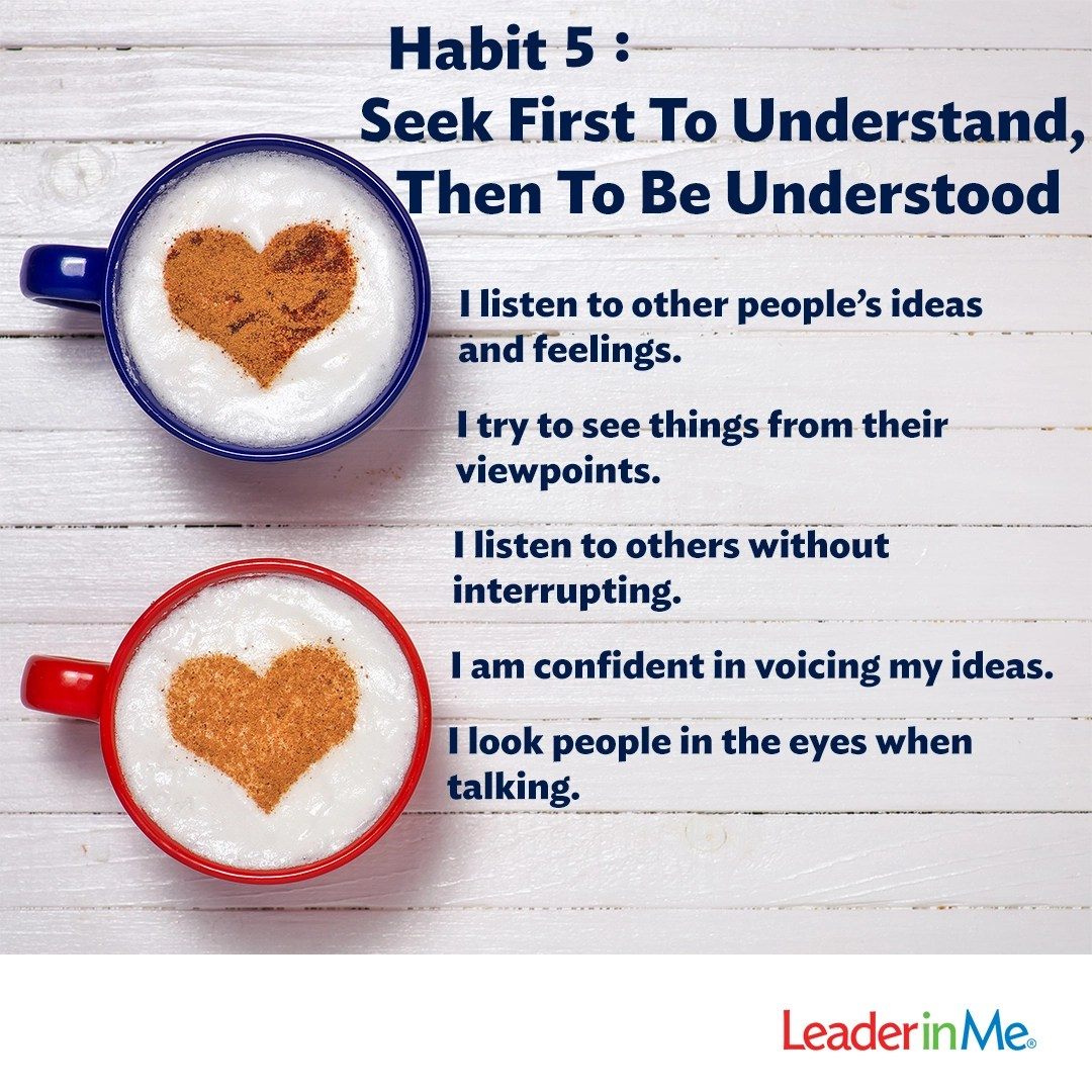 Habit 5 Practicing And Teaching The Principle At Home