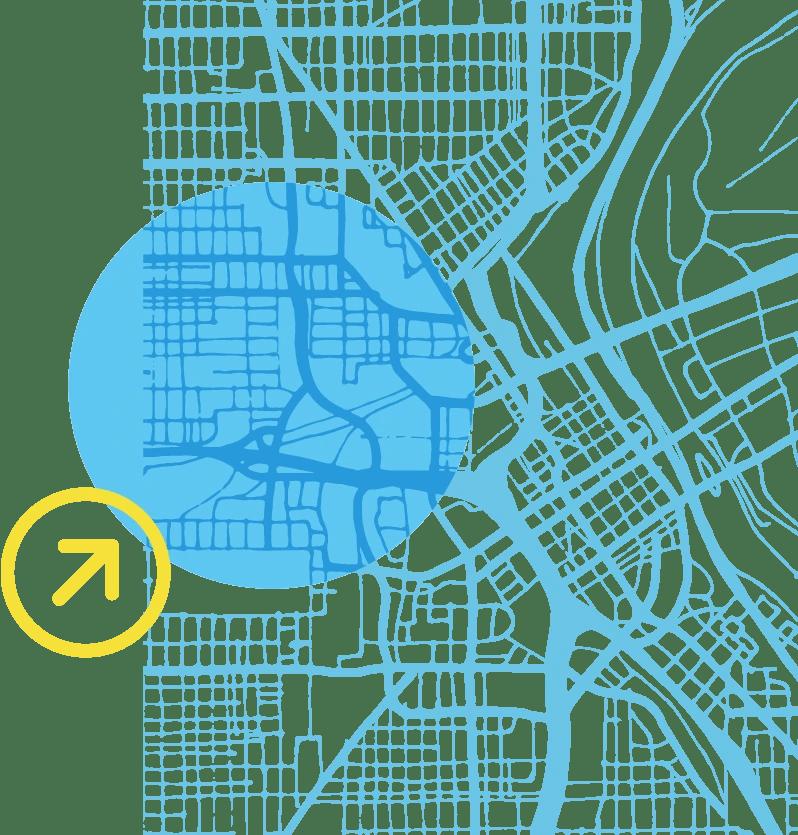 latitude map light blue