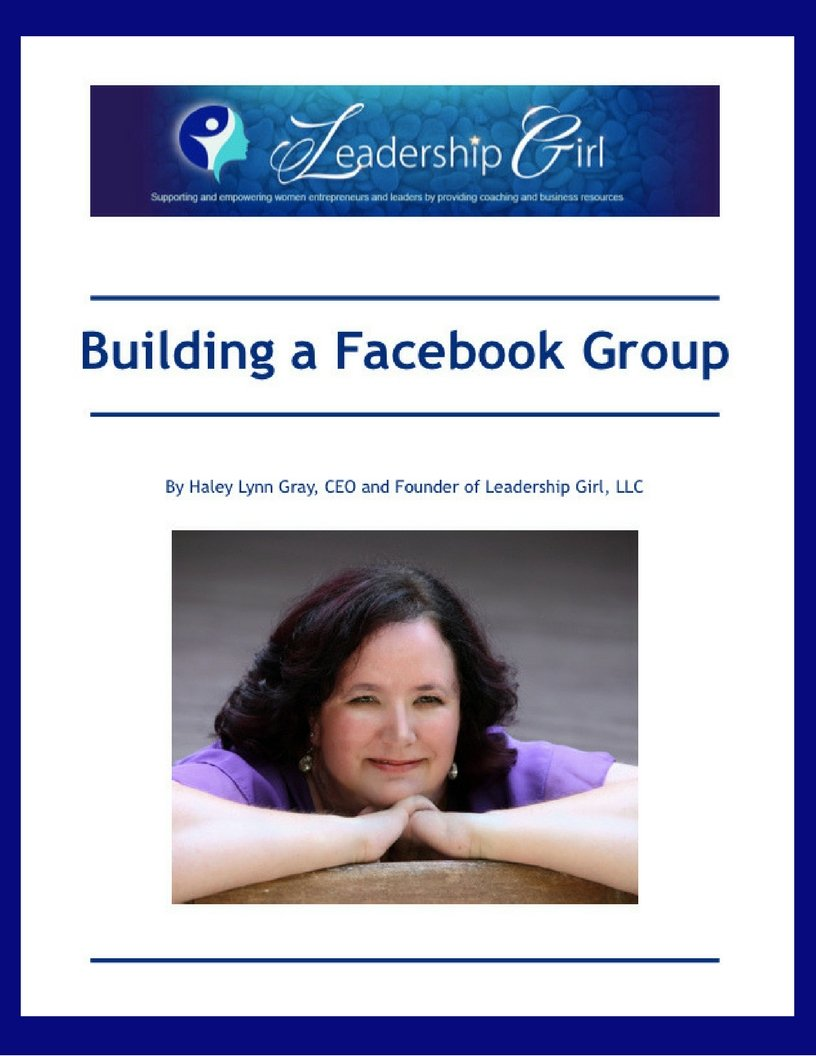 Building a Facebook Group eBook