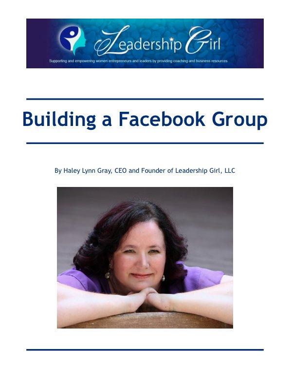Building a Facebook Group ebook