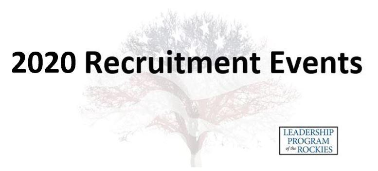 2021-2022 LPR Recruitment Events