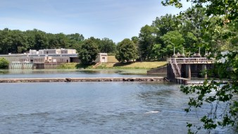 Power Station and Reservoir on South Branch of Raritan River in NJ July 2016