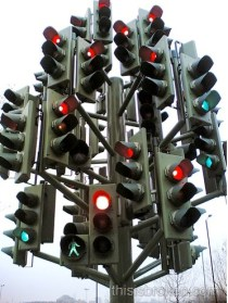 20 traffic light art piece