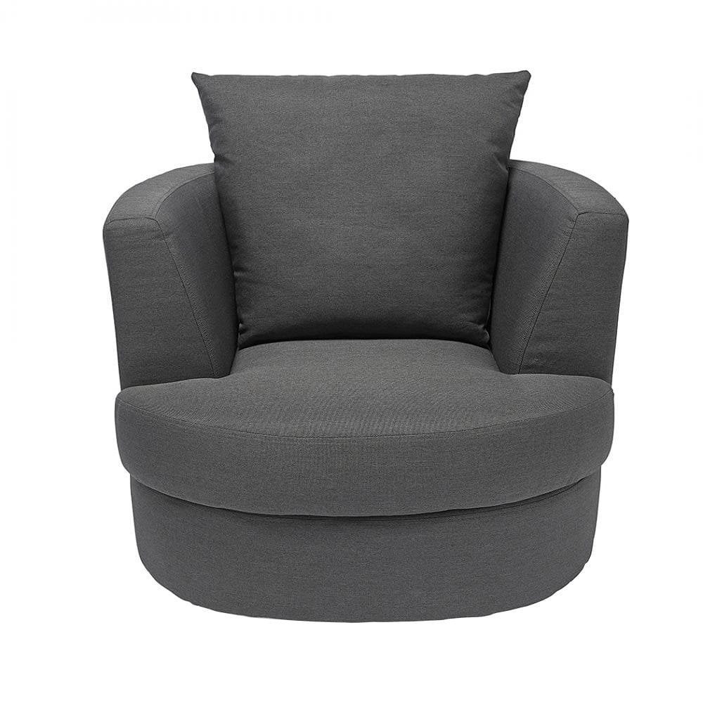 LPD Furniture Bliss Grey Swivel Chair  Leader Stores