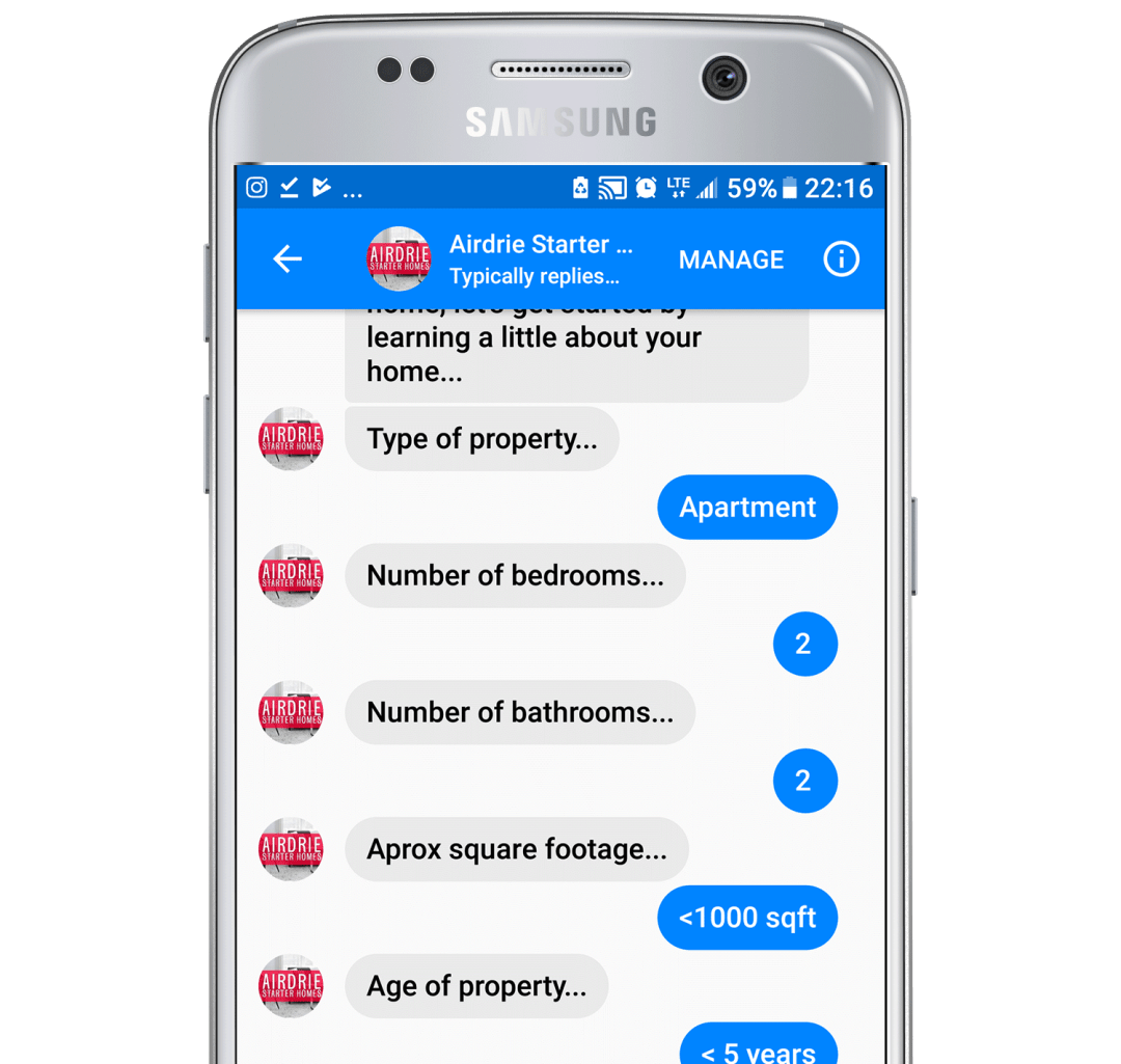 real estate chatbot template