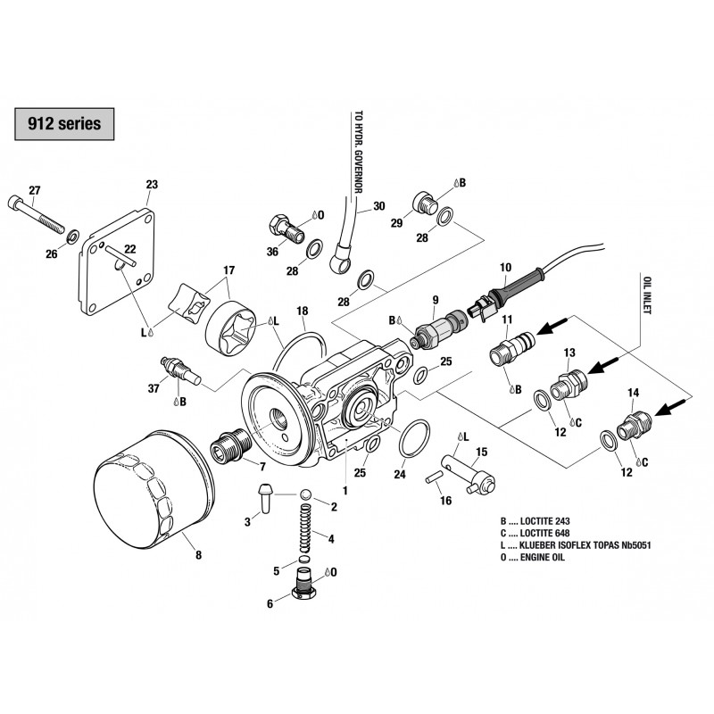912 & 914 Oil Pump Assembly, Oil Filter, Oil Temperature