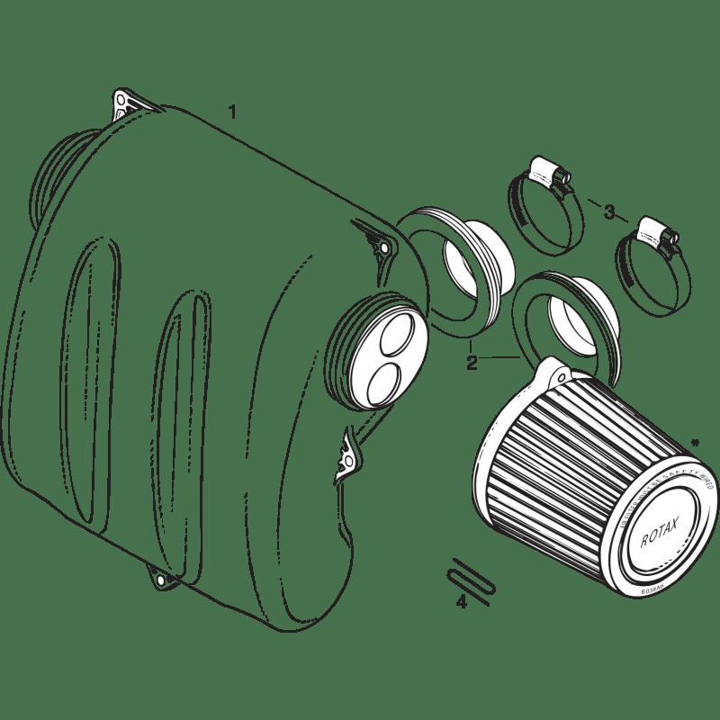 Intake Silencer for 503 UL 37kW and 582 UL Mod. 90/99 40