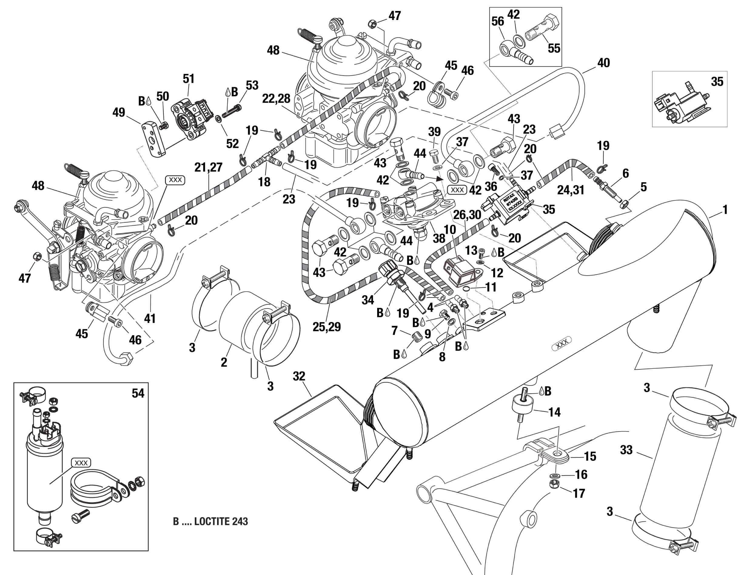 914 Airbox Assy 3 Way Solenoid Valve Assy Fuel Pressure Regulator