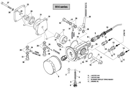 small resolution of 914 oil pump assembly