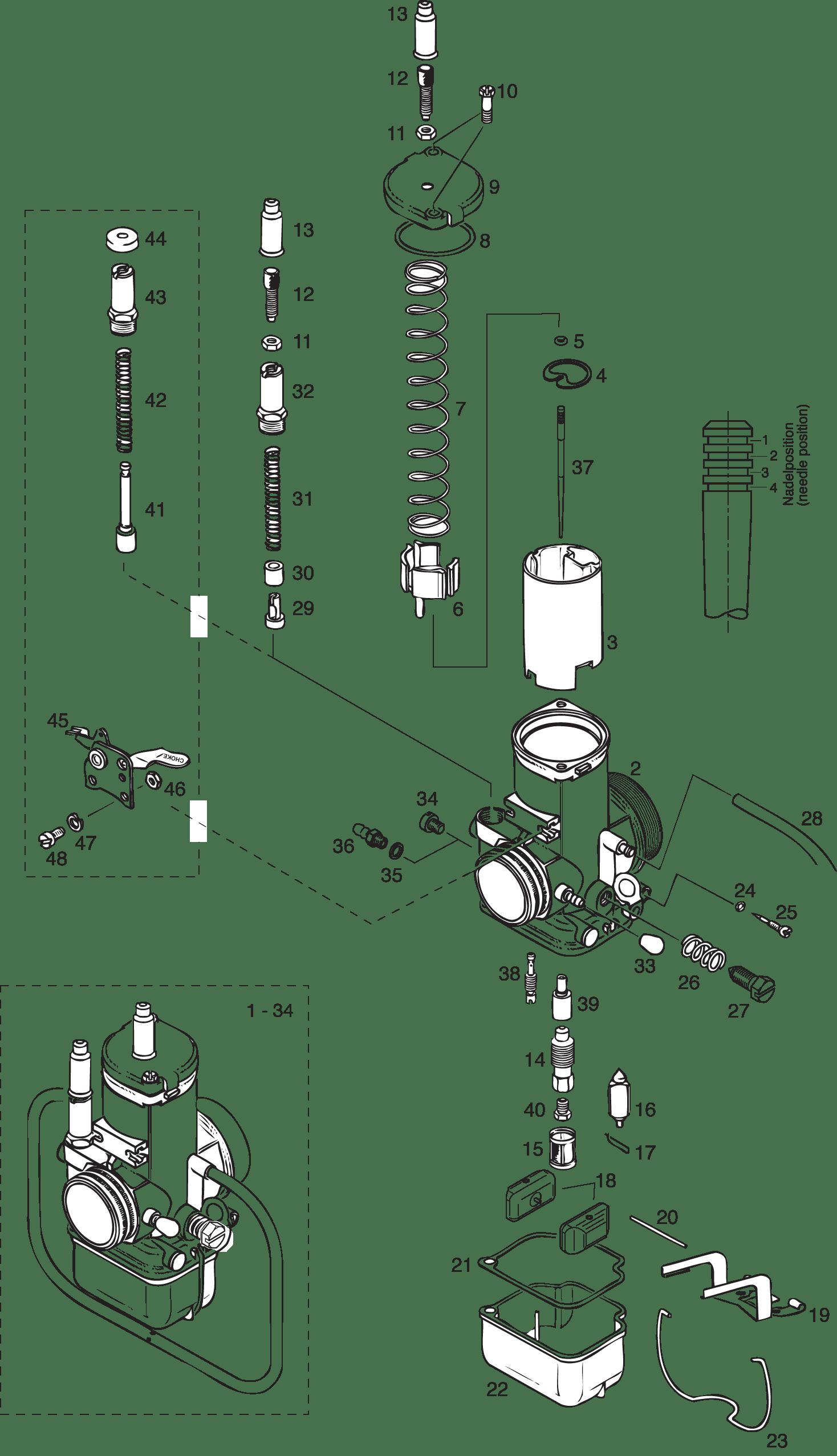 Bing Double Float Carburetor 36 Mm Model 96