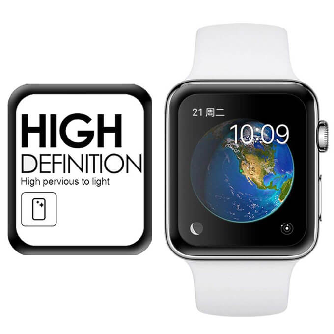 Leadingplus 3D Screen Protector Tempered Glass Cover for Apple Smart Watch Series