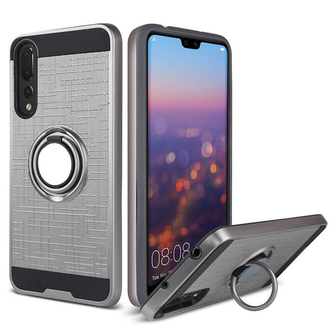 Hot Selling TPU PC 2 in 1 Ring Holder Case Phone Case Cover for Huawei P20 Pro