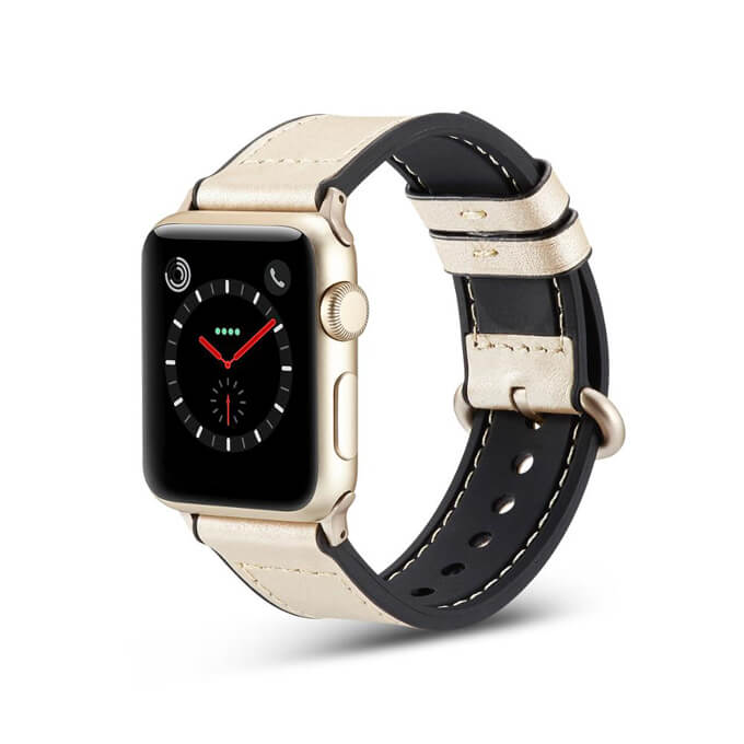 2020 Fashion Soft Leather Watchband Watch Band Strap for Apple Watch Series Strap 38 to 44mm