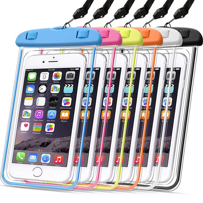2020 High-Quality Universal PVC Luminous Mobile Waterproof Case for iPhone 8 Plus XS Max