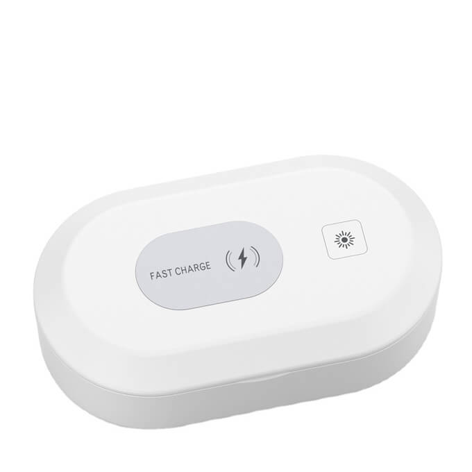 2020 Portable 15W Fast Wireless Charger UV Light Cell Phone Sterilizer Smartphone Sanitizer