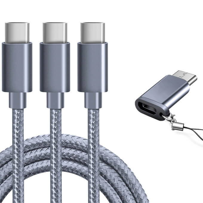 High-quality Nylon Braided Fast Charger Cord USB 3.0 Type C USB Cable for All Phones