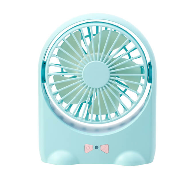 New Product USB Desktop Mini Battery Fan with Romantic Night Light