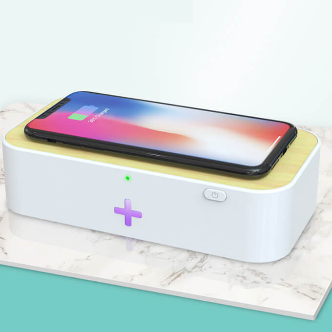 Leadingplus 15W Fast Wireless Charger UV Light Disinfection Mini Phone UVC Sterilizer Box