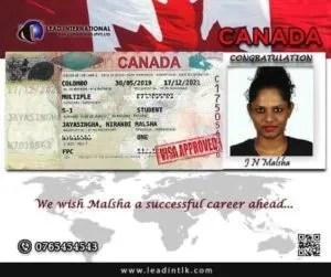 Successful Recent Canada Student Malsa