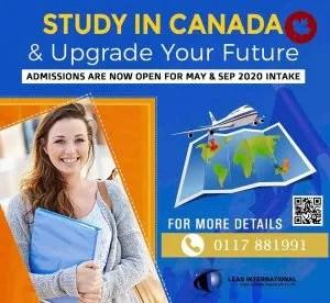 Study in Canadato Upgrade
