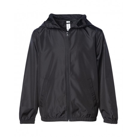 Independent Trading Co. EXP24YWZ Youth Light Weight Windbreaker Zip Jacket