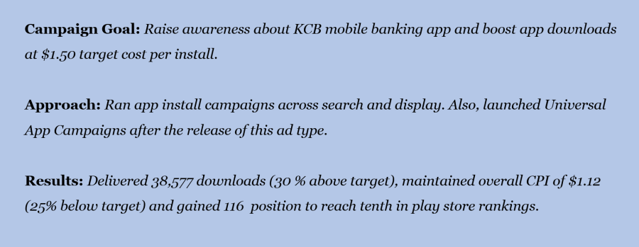 What is google adwords - KCB
